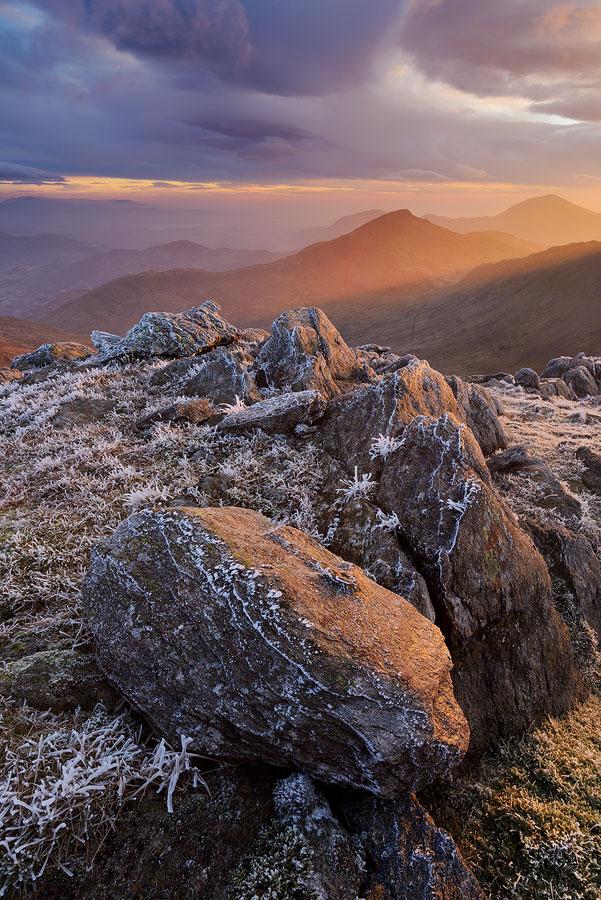 Snowdon path at sunset