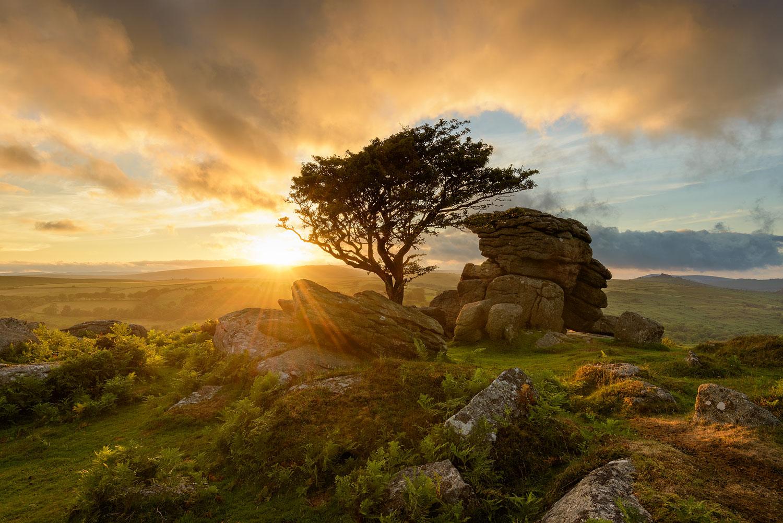 Dramatic sunset on Dartmoor
