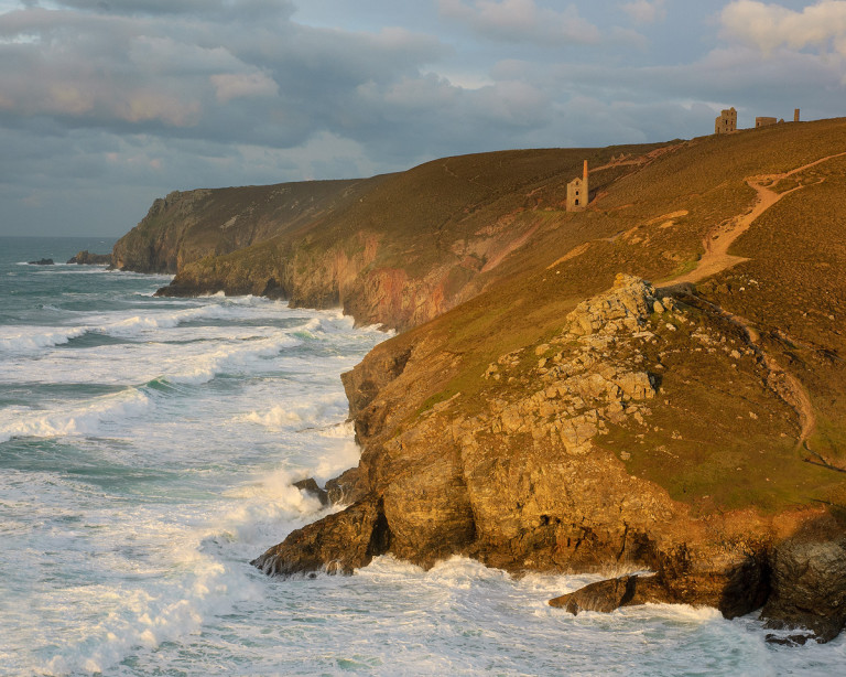 Wheal Coates in evening light