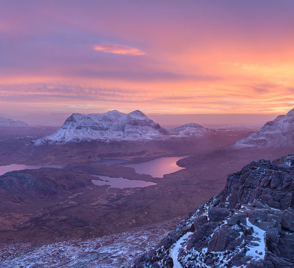 Winter sunrise in Assynt
