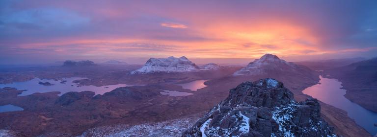 Winter sunrise in Assynt