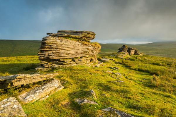 Dramatic light on Dartmoor tor