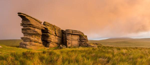 Sunrise over Watern tor on Dartmoor