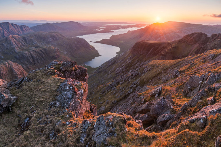 Great wilderness sunset