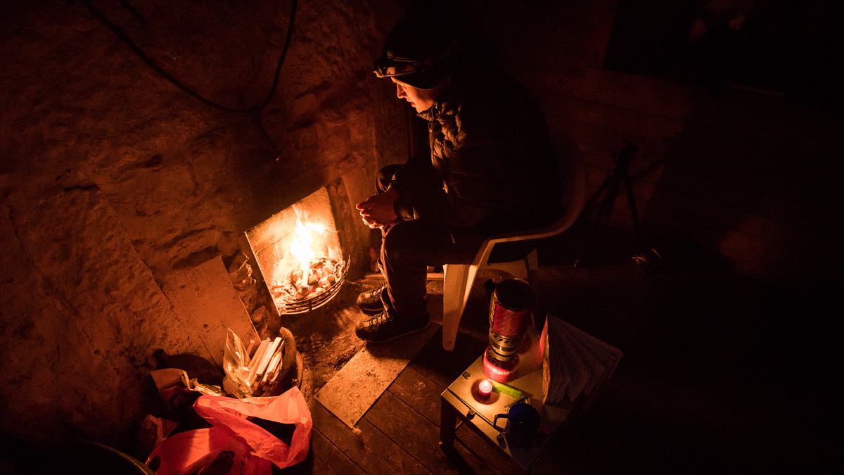 Fire in Corrour Bothy