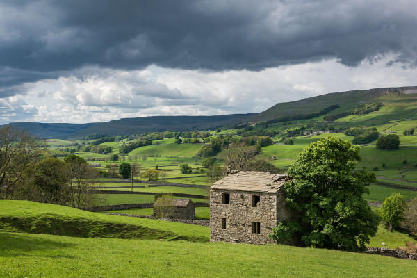 storm clouds over Yorkshire Dales