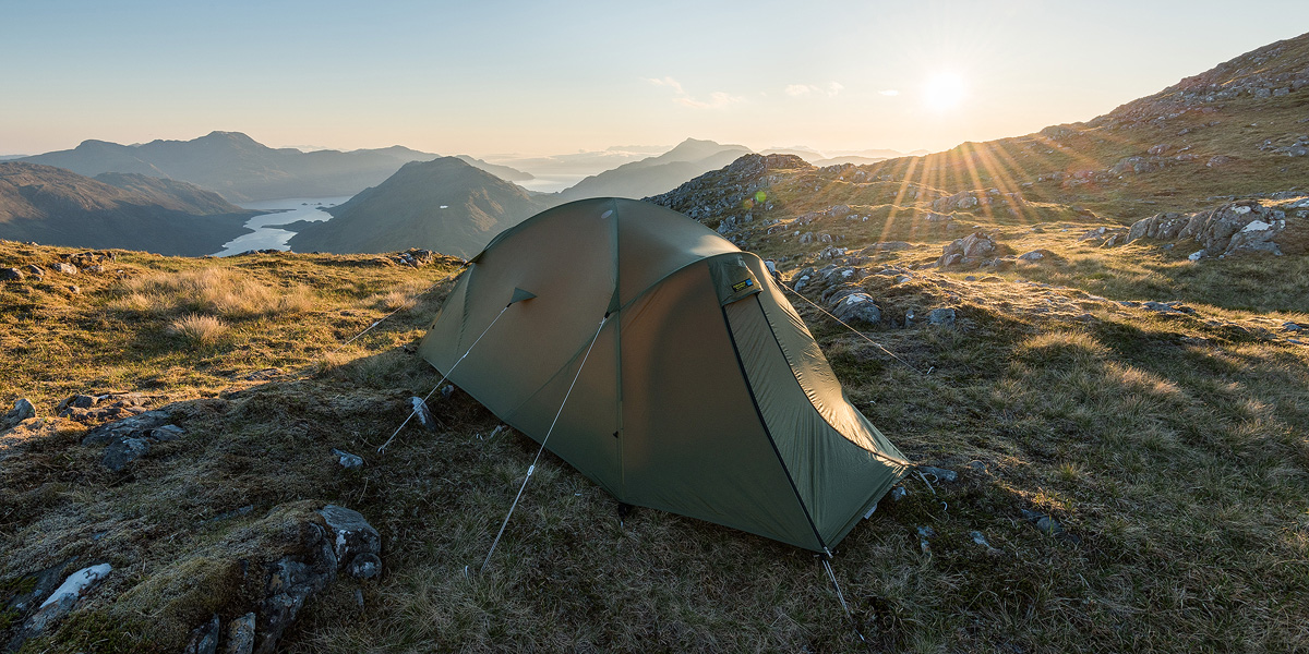 My Terra Nove Ultra Quasar tent set up before sunset