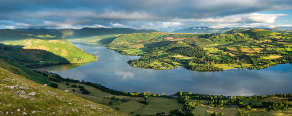Ullswater in summer from Arthur's Pike