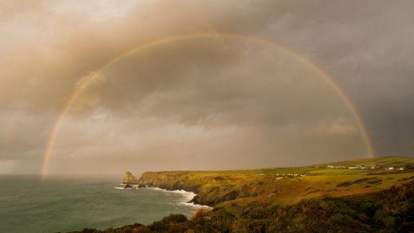 Rainbow over North Cornwall