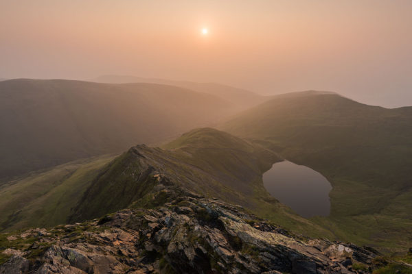 Sunrise over Sharp Edge in Lake District