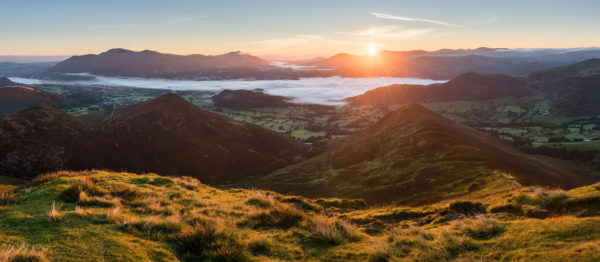 Sunrise from Causey pike in late summer