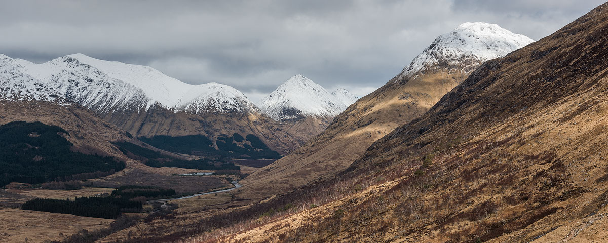 Looking back at Glen Etive as I made my way up.