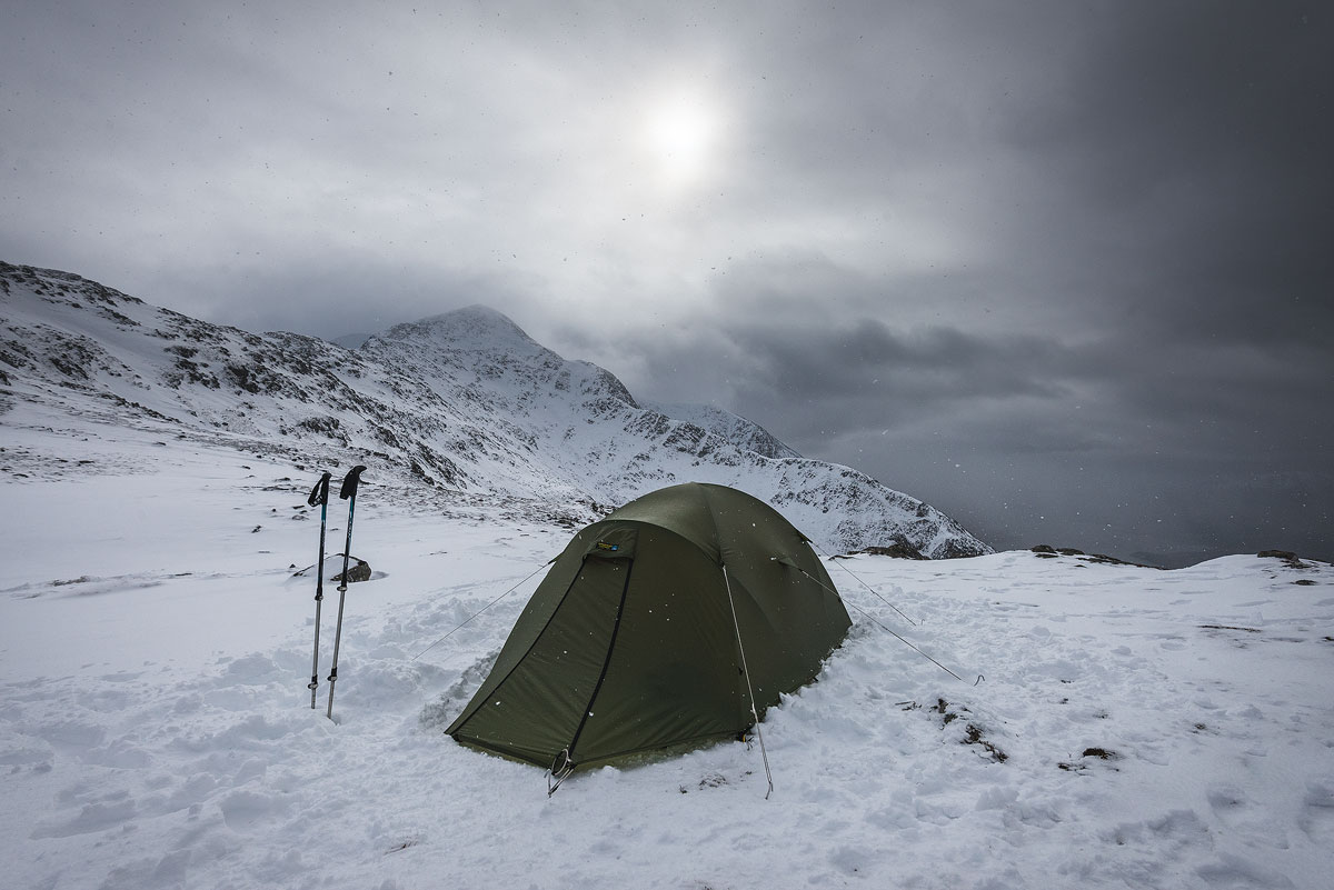 A final image of the tent as the weather closed in.