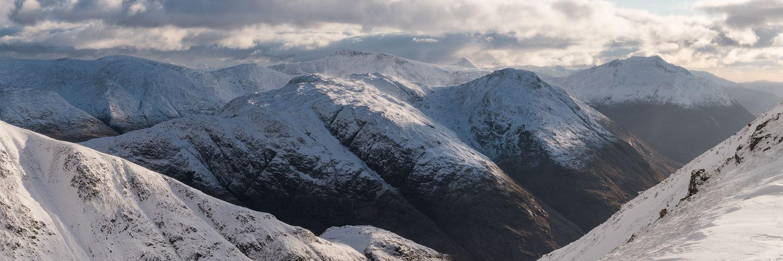 Glen Etive winter panorama