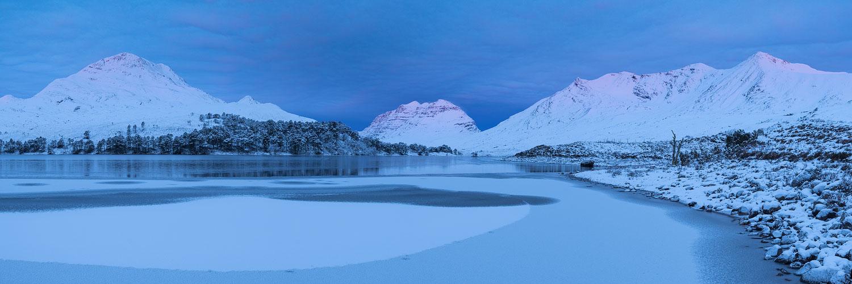 Loch Clair panorama dawn