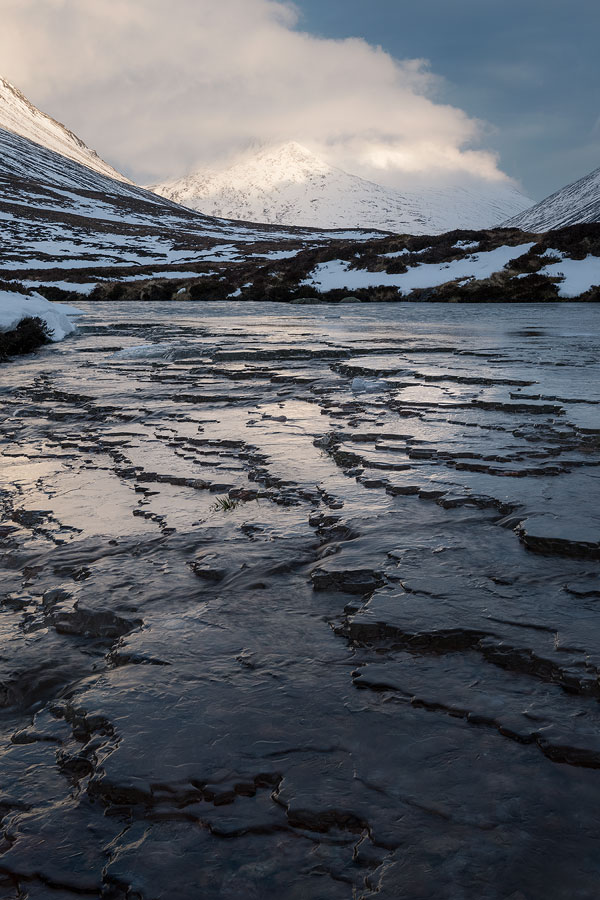 Ice forms in Lairig Ghru